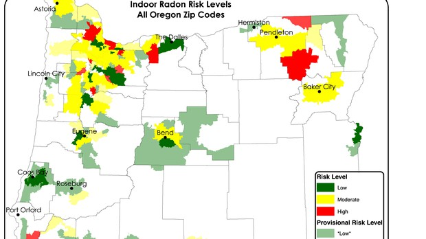 High Levels Of Radon In Many Parts Of The State News Opb