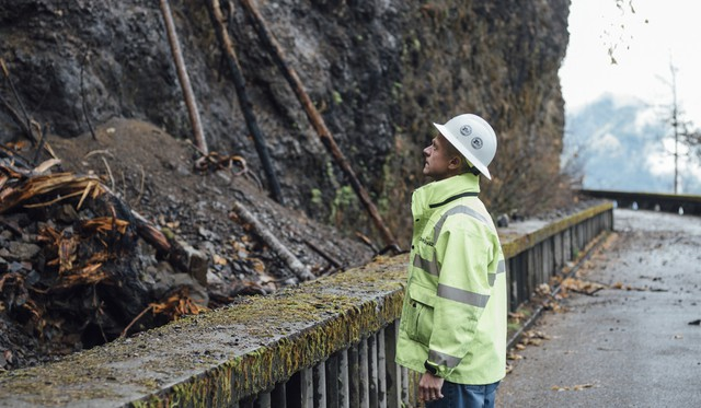Stephen Hay, an engineering geologist with Oregon Department of Transportation, is charged with keeping I-84 safe from landslides, rockfall and debris flows.