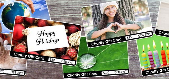 The recipient chooses what good causes to support with the funds loaded on a TisBest charity gift card.