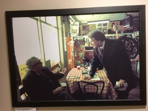 This photo in the hallway of the New Hampshire Institute of Politics shows Jimmy Carter campaigning in 1975. It prompted Gov. Jay Inslee to note that unknown governors have become president in the past.