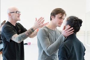 James Canfield working with Peter Franc as Romeo and Xuan Cheng as Juliet.