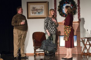 """At the heart of """"Viva's Holiday"""" is Viva's growing self-possession, as she prepares to tell her parents how she's been paying the bills. Baritone Bobby Jackson, left, as Dad, soprano Helen Funston, center, as Viva, and mezzo-soprano Sadie Gregg, right, as Mom."""