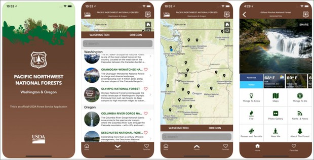 New Forest Service App For Pacific Northwest Is \'First Of Its Kind ...