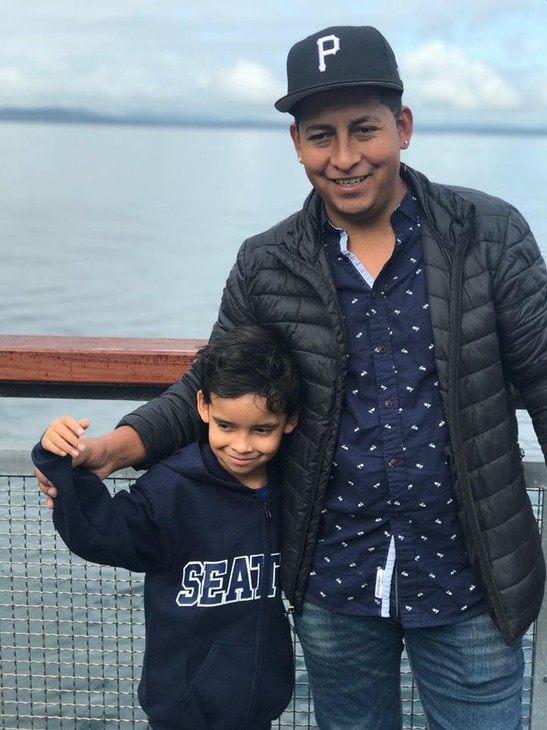 Francisco Morales with his son, who his mother Brenda Lopez says is inattentive and emotional at school following his father's immigration arrest.
