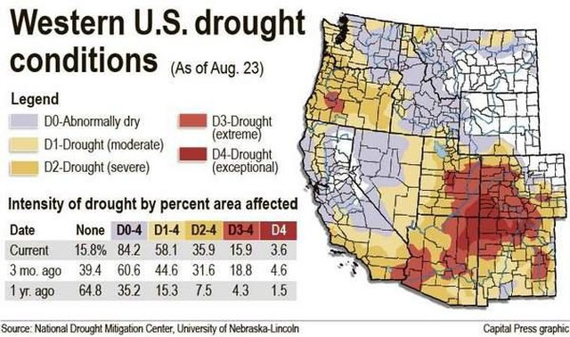 Capital Of Oregon Map.Drought Lingers Across The Pacific Northwest News Opb