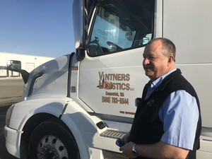 Robert Thompson has run Vintners Logistics for 12 years. The company stores and ships Washington wine. Thompson worries a low carbon fuel standard could drastically increase fuel costs for the trucking industry.