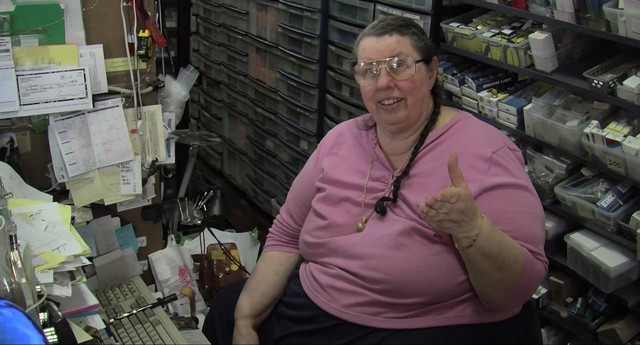 """Kay """"The Lightbulb Lady"""" Newell has owned and operated the iconic Sunlan Lighting store on N. Mississippi for decades."""