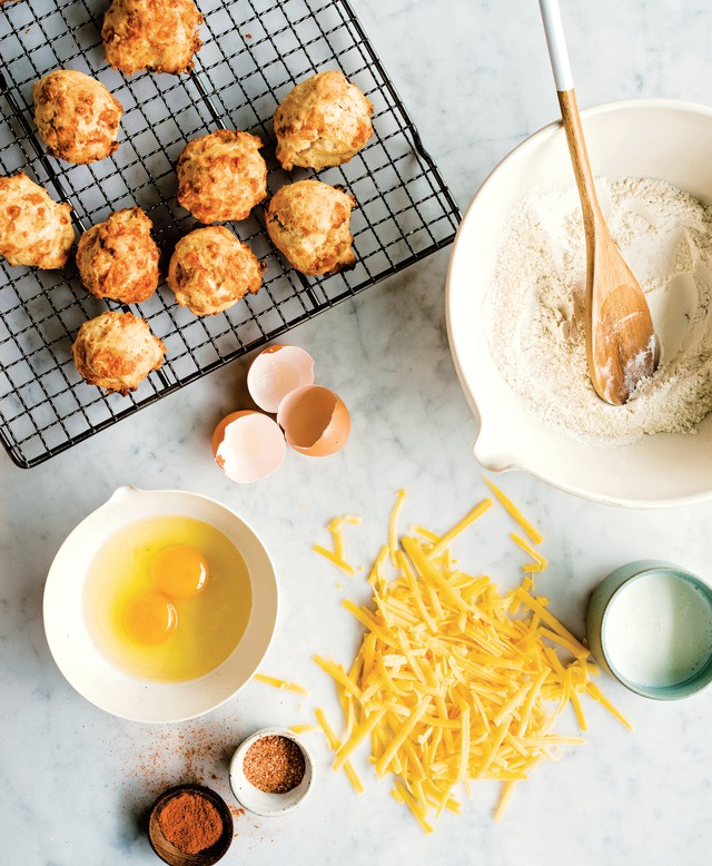 Homemade Onion Skin Powder is the secret ingredient that gives depth of flavor to these easy Cheese and Onion Biscuits, which travel well and can be served hot or cold.