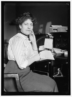 """One of the reasons documentation of Carolyn B. Shelton's story remains elusive stems from the misspellings of her name throughout archives and collections. This photo from the Library of Congress of Shelton from 1914 lists her as """"Miss Carolyn B. Sheldon."""""""
