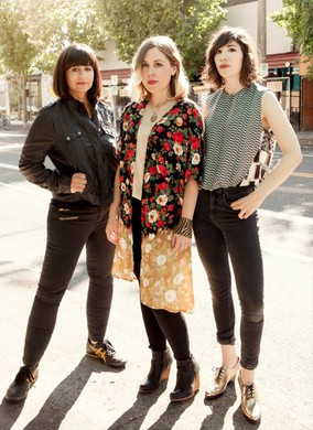 The trinity that is Sleater-Kinney: Janet Weiss, Corin Tucker & Carrie Brownstein