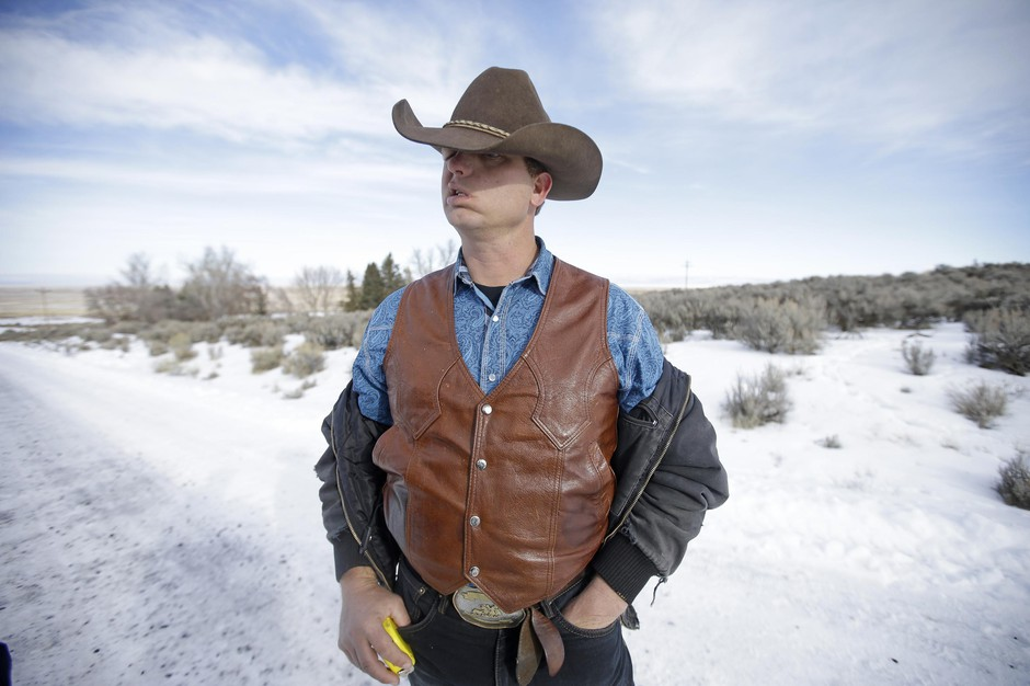 Ryan Bundy, one of the sons of Nevada rancher Cliven Bundy, at Malheur National Wildlife Refuge on Jan. 6, 2016, near Burns, Oregon.