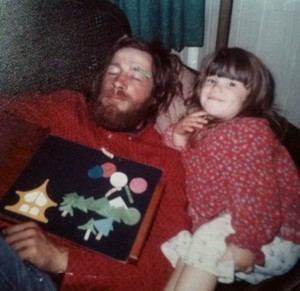Chloe Eudaly and her father.