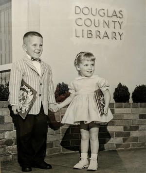Roseburg native Steve Loosley and his sister Judith, circa 1959.