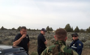 Fish and Wildlife troopers from Bend and La Pine wait outside the property of an antler dealer in Central Oregon. They need his help to track down some stolen antlers and connect suspected poachers to antler sales.