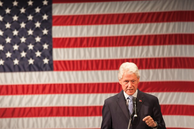 Former President Bill Clinton rallied for his wife, former Secretary of State Hillary Clinton, at Clark College in Vancouver, Washington, on March 21, 2016.