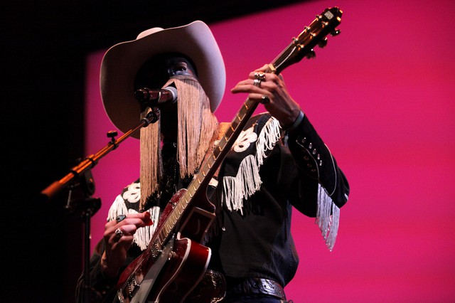 Orville Peck, onstage for THING at Fort Worden in 2019.