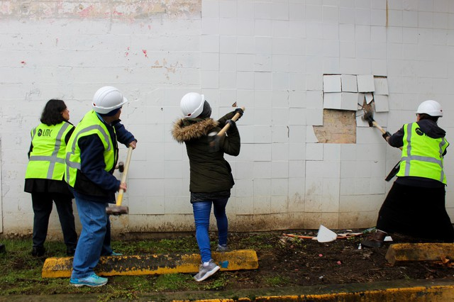A coalition of neighbors and community groups purchased the building that once housed Portland's Sugar Shack strip club in 2015. They demolished it in December 2018 to make way for affordable housing.