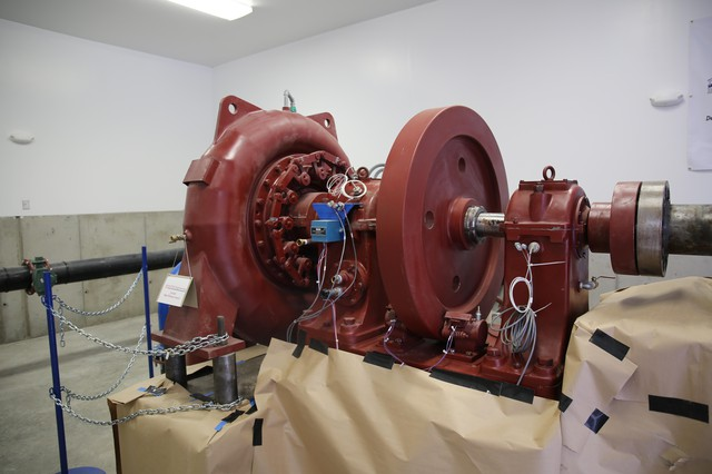 An example of a turbine from the Watson Micro Hydro Demonstration Project outside Sisters.