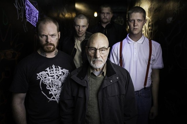 "Patrick Stewart plays a neo-Nazi villain in ""Green Room,"" the new horror thriller about a punk rock band filmed in Oregon."