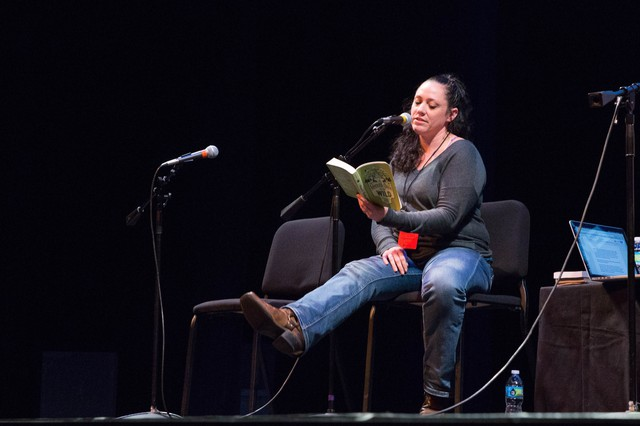"Ruby McConnell reads from her book ""The Woman's Guide To The Wild"" at Wordstock at the Dolores Winningstad Theatre in Portland, Oregon, Saturday, Nov. 5, 2016."