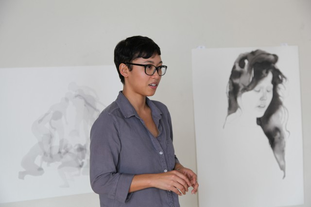 Samantha Wall in her Portland studio