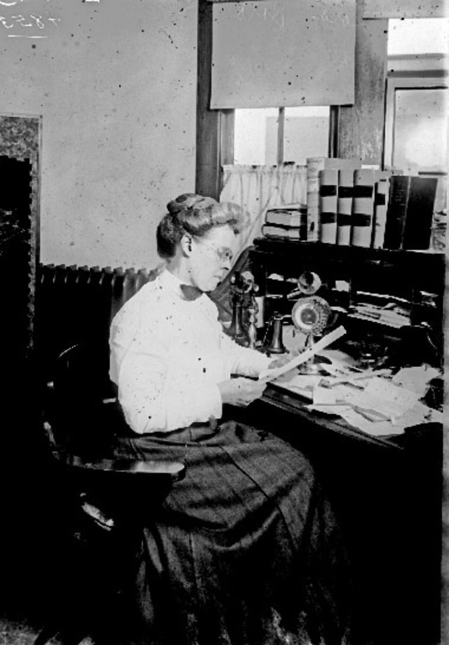 Lola G. Baldwin, first superintendent of the Portland Police Department Women's Protective Division, made sure a female officer was on duty at all times and Baldwin remained on call around the clock. She crusaded for the welfare of young, single working women.