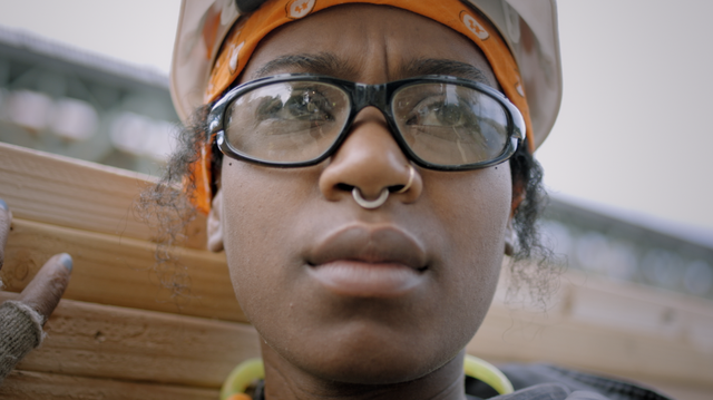 Sista in the Brotherhood follows Laneice, an apprentice carpenter, on her first day on the job in a male-dominated workplace.