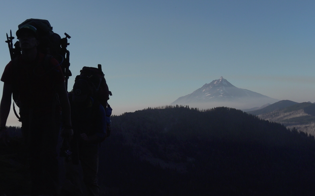 """Oregon Field Guide"" crew packs camera gear as fires burn near Mount Jefferson."
