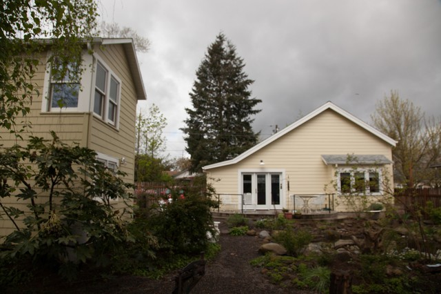 The accessory dwelling unit behind Nancy Hiss' house is the new home for a family priced out of their Northeast Portland apartment complex.