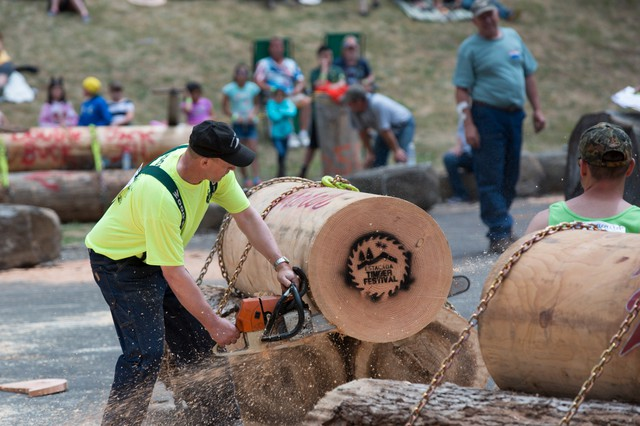 The Estacada Timber Festival gives Northwest loggers a chance to put their skills to the test. Competitors go toe-to-toe in a variety of timber industry skill competitions, including good, old-fashioned log sawing.