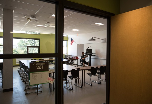Portland Public Schools Staff Put The Finishing Touches On Classrooms At  Roosevelt High School U0026mdash;
