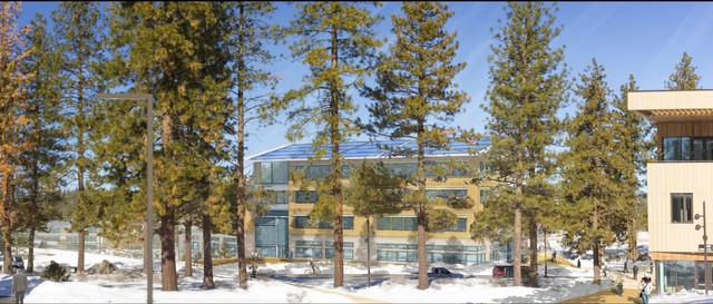 An artist's rendering of a proposed expansion for the Oregon State University-Cascades branch campus in Bend.