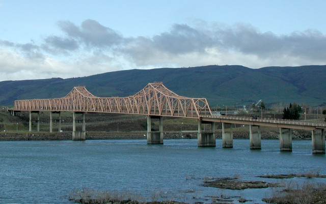 The Dalles Bridge is deemed potentially seismically vulnerable by the Oregon Department of Transportation.