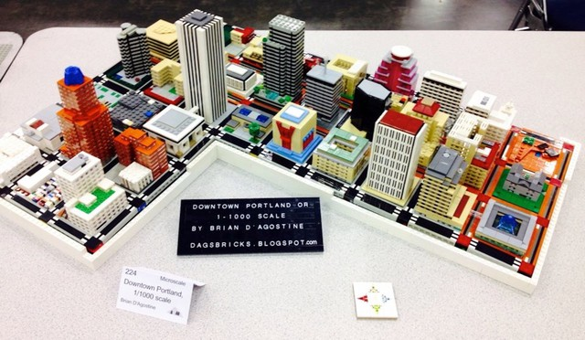 Downtown Portland 1-1,000 scale model by Brian D'Agostine
