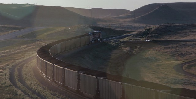 A proposed coal export terminal on the southern Oregon Coast hit a major setback when the last investor pulled out of the deal. It's one of five proposed terminals that would ship coal from trains like this one leaving a Wyoming mine.