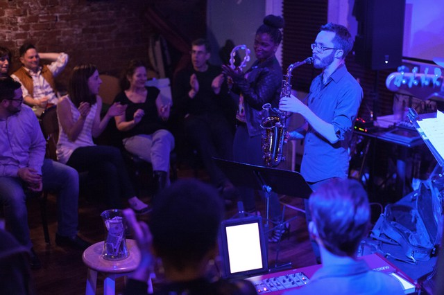 Sometimes patrons at Solae's become part of the band. An organic experience when the entire place jumps to the music.