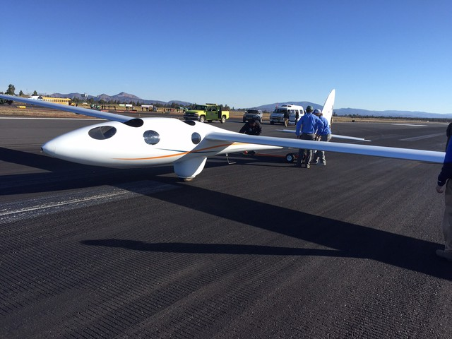 The Perlan II glider was built in Redmond. Its designers hope it will be able to fly to the edge of space.