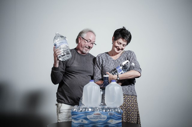 OPB's Randy Layton and Katrina Sarson treat their 14 gallons of water with care, baby like care.
