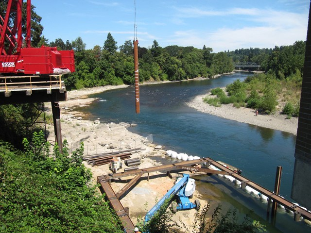 The city of Lake Oswego plans to double the amount of water it takes from the river and is building a larger intake system.