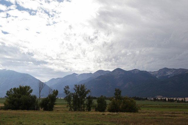 The Wallowa Mountains from outside Enterprise