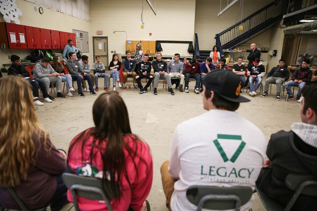 """40 students from Oregon City and Portland-area high schools gathered for a discussion about """"What Makes America Great (And Not Great) For You."""""""