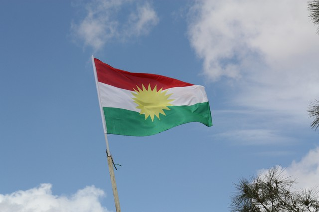 Flag of the autonomous Kurdistan Region of Iraq (via William John Gauthier — Creative Commons)