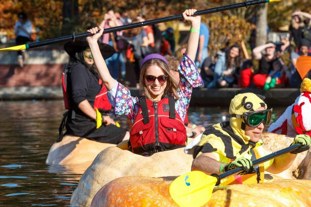 Tualatin's Pumpkin Regatta has been an annual tradition since 2004. Besides boat races in giant pumpkins, the festival includes costume contests, pumpkin golf and clown shows.