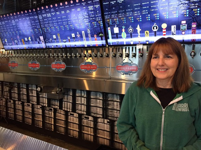 """Sue Wise at Growler Guys in South Portland said customers will miss their CBD infused beer. """"People feel like the CBD in the beer is helpful, whether it's for muscle pain or other injuries they have. People really believe the CBD helps them,"""" she said."""