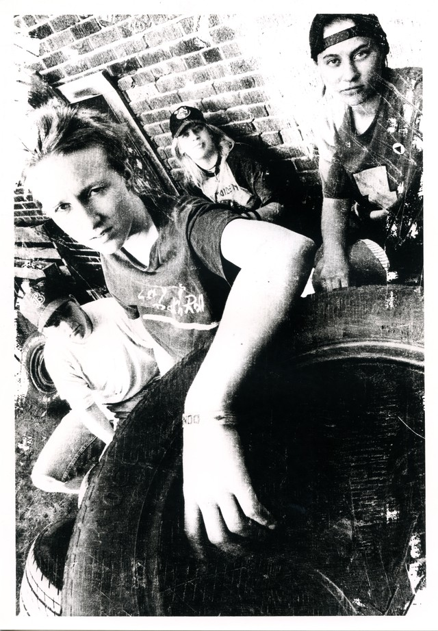 "Team Dresch, photographed around the time of their 1995 album, ""Personal Best""."