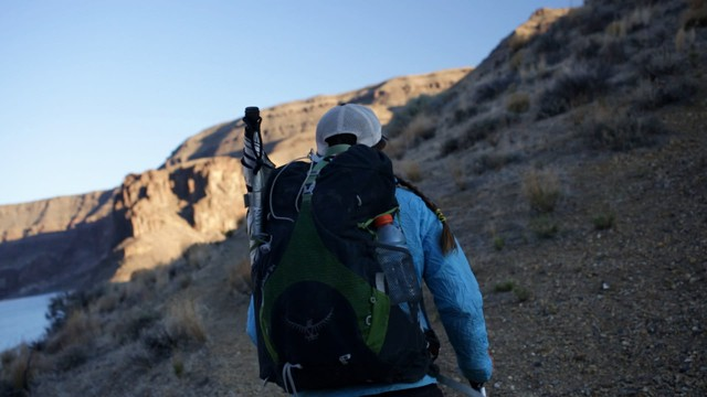 Sage Clegg in the Owyhee Canyonlands.