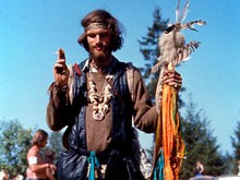 """One of the thousands of """"hippies"""" that attended the Vortex festival."""