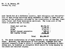 A Dept. of Transportation memo from 1941 shows the creation of Hole in the Wall Falls cost $14,896.27.