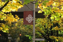 Portland State University campus in fall