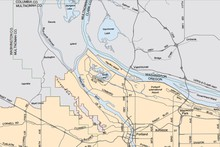 Map of the urban growth boundary of 2006, courtesy Oregon Metro